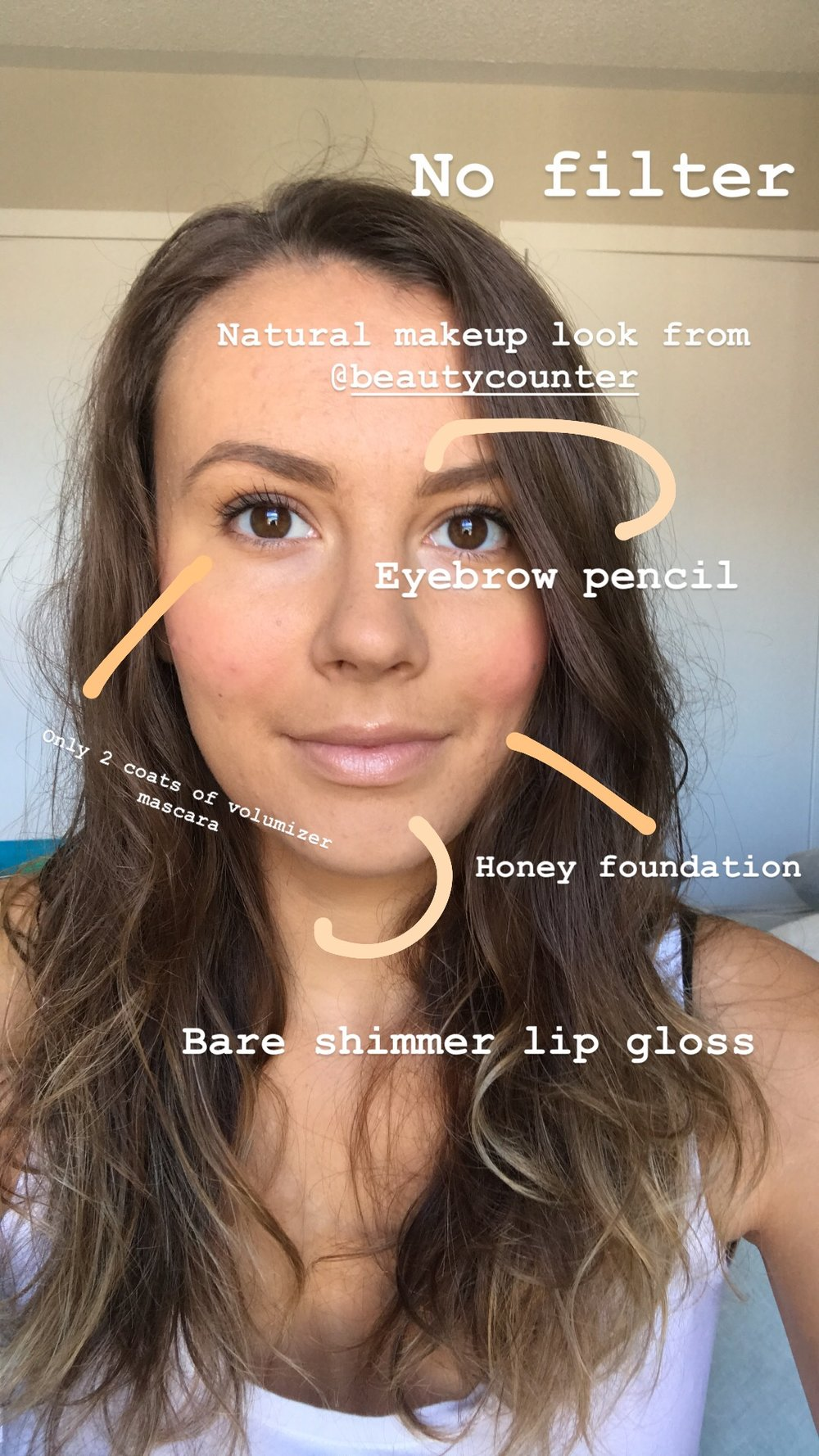 This is a classic natural look that I create using most of my must haves. Look at that complexion after using the foundation. I use the shade honey in the summer.