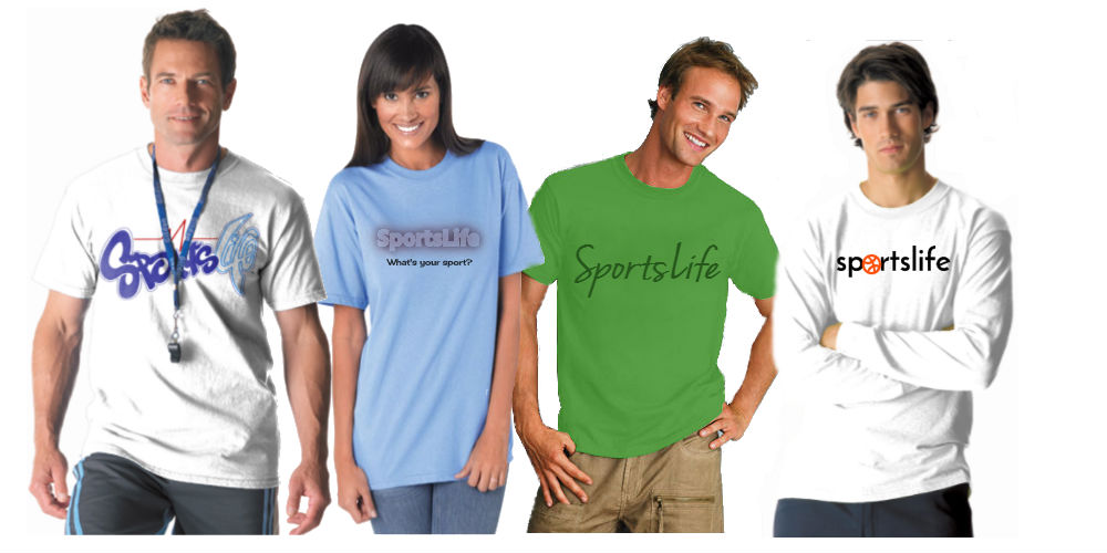 As low as $8 per shirt - sell SportsLife Branded merchandise with markups over 200%!