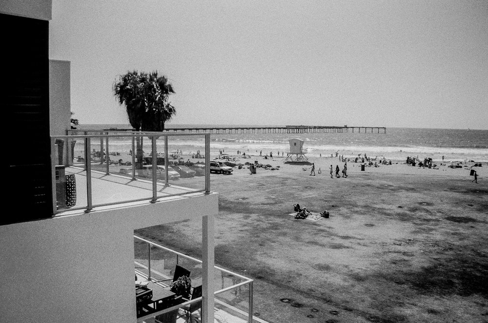 Balcony. Ocean Beach, California. 35mm