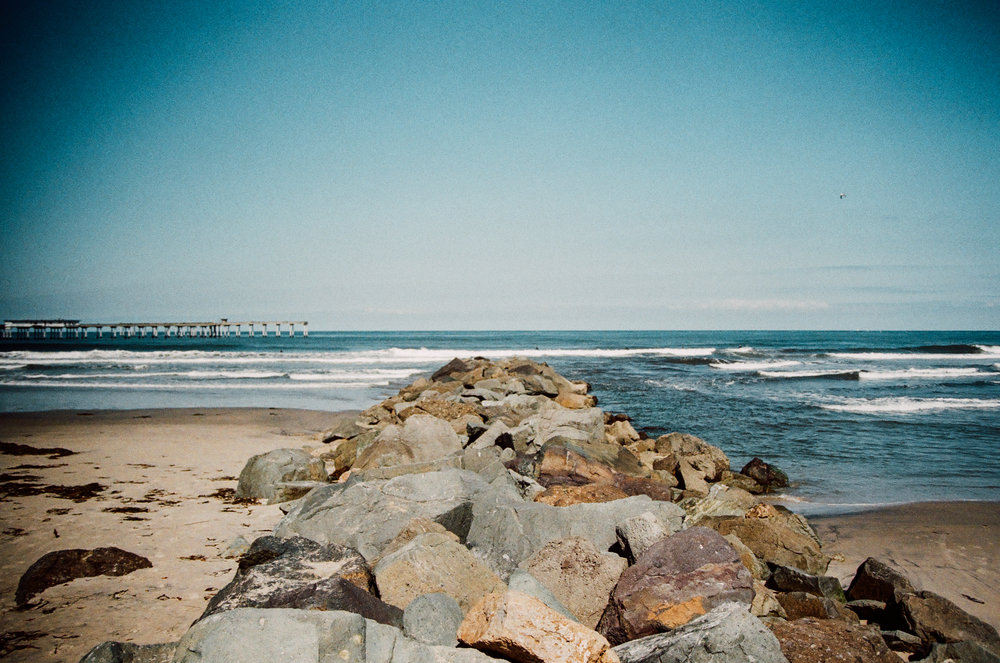 Rock Pier. Ocean Beach, California. 35mm