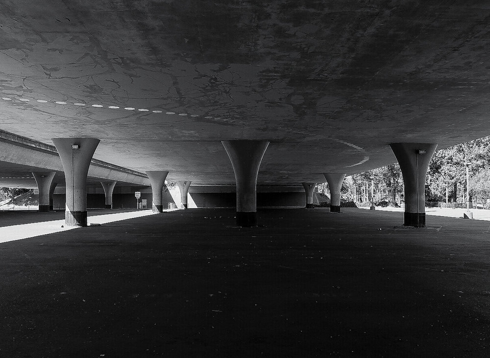Underpass. Sacramento, California. 120 | Medium Format