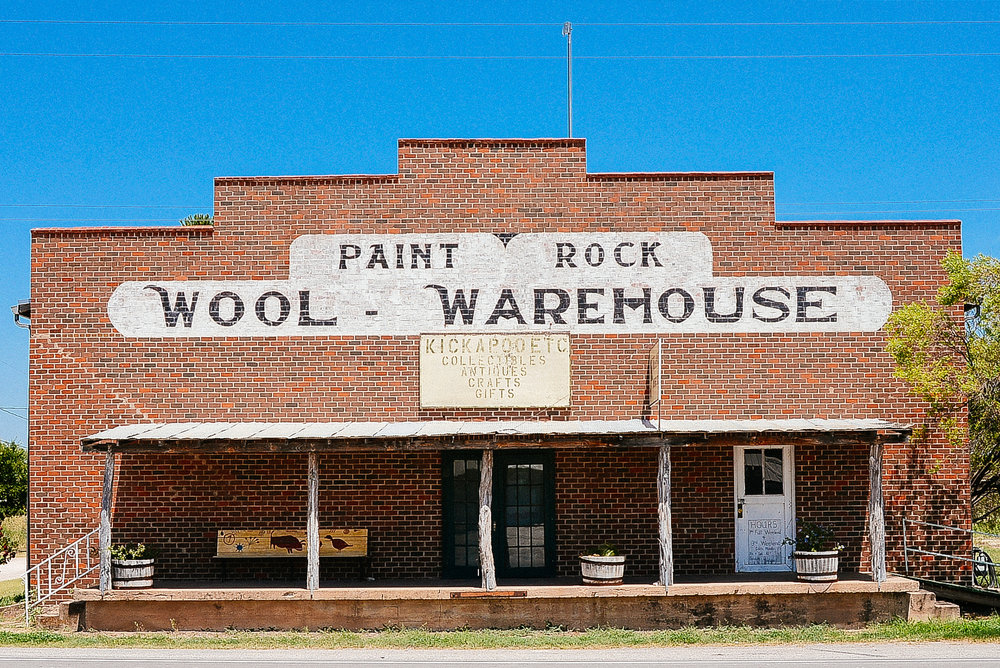Wool Warehouse. Paint Rock, West Texas.