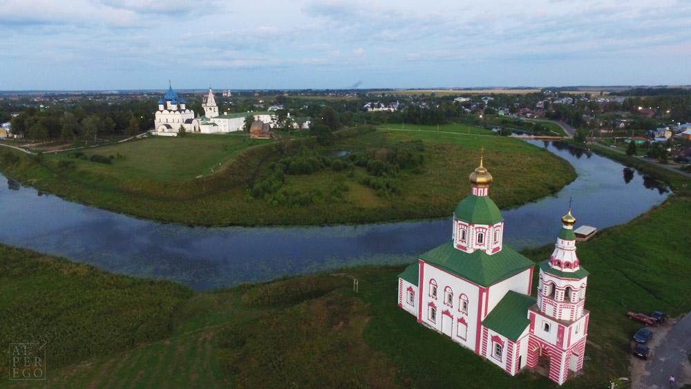 Ilinskaya Church, River Kamenka and Suzdal Kremlin