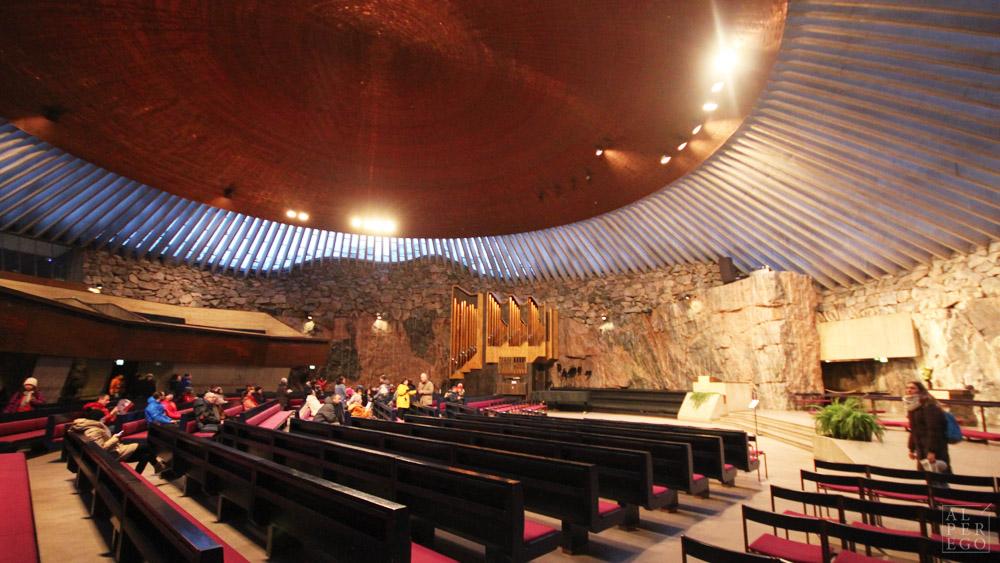 Temppeliaukio Church by Timo and Tuomo  Suomalainen.