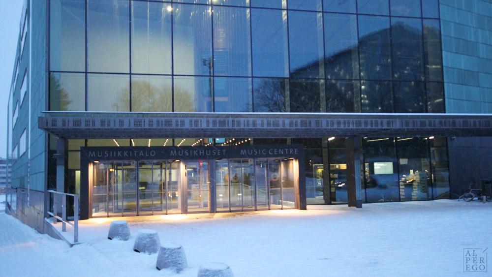 The Entrance of Helsinki Music Center.