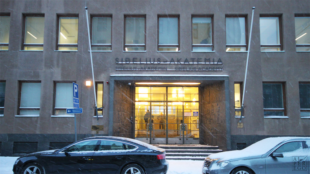 The Entrance of Sibelius Academy.