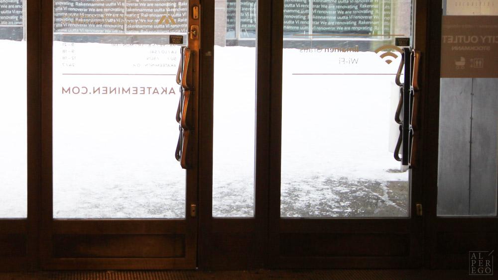Door handles in Finland...