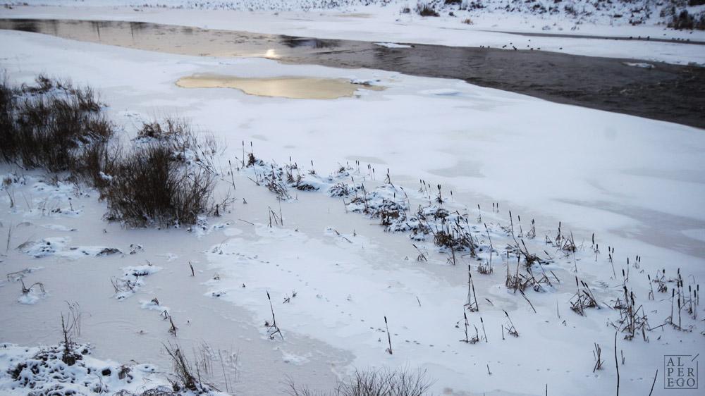 Half frozen Velikaya River.
