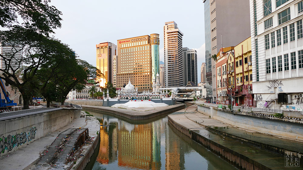 Masjid Jamek where Klang river meets with Gombak river