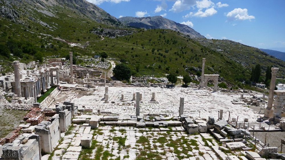 Upper Agora from the Bouleuterion /  Meclis binasından Yukarı Agora