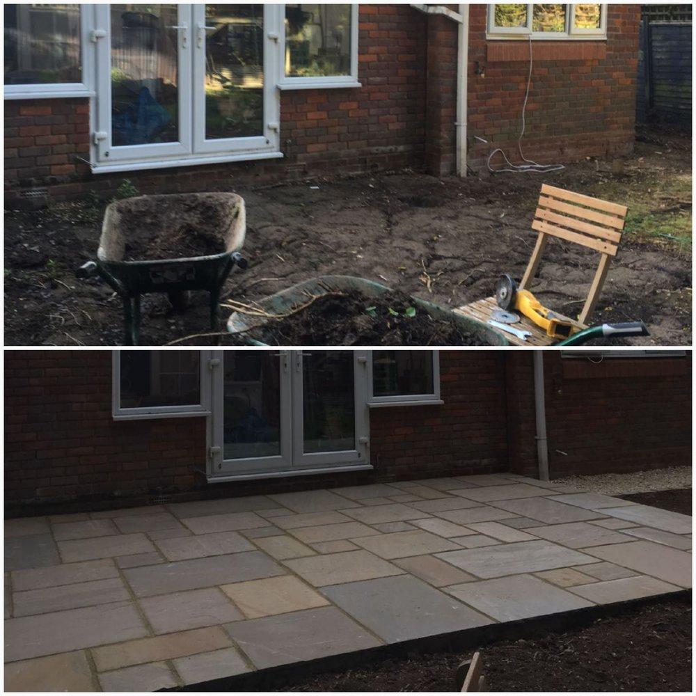 Indian sandstone new patio