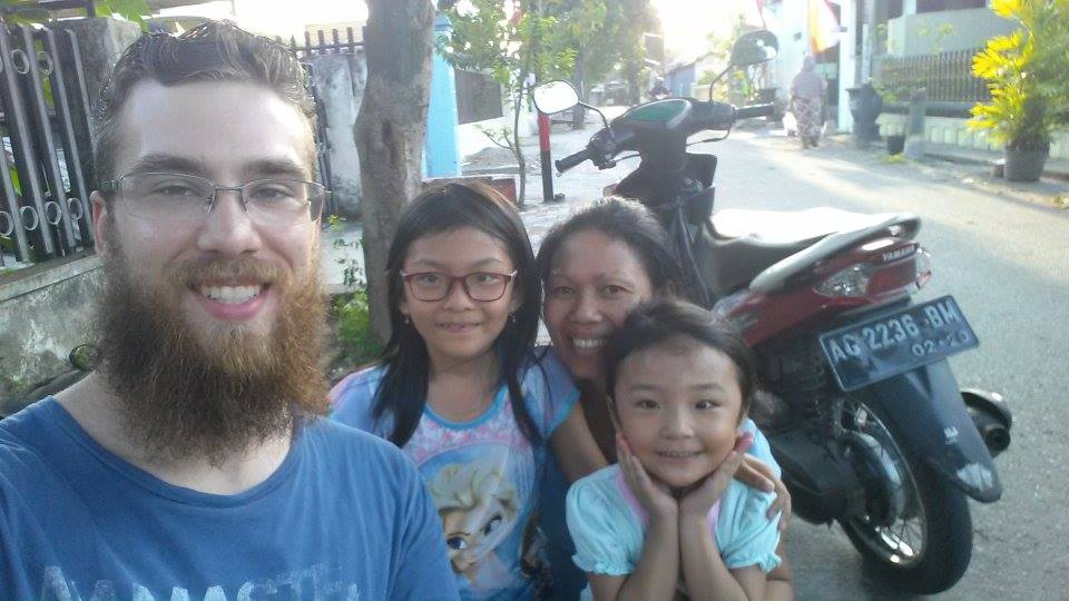 A selfie with some locals.