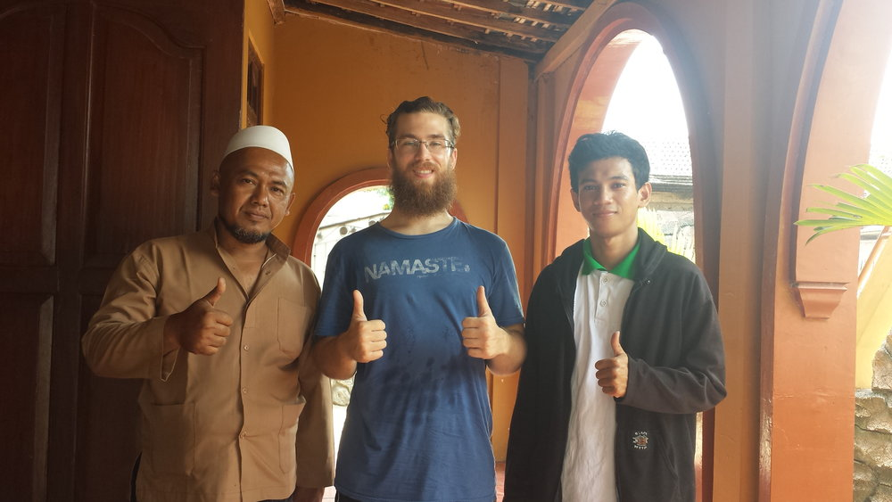 From left to right: Mr. Luqman, Max, and Mr, Muhlis.