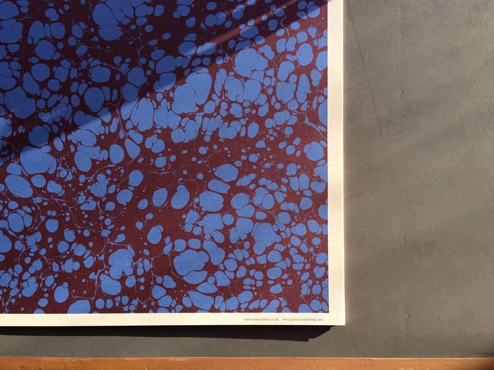 Turkish Spot Marbled Paper #esmewinter #studio #jemmalewismarbling #giftwrapping #decorativepaper #bookarts