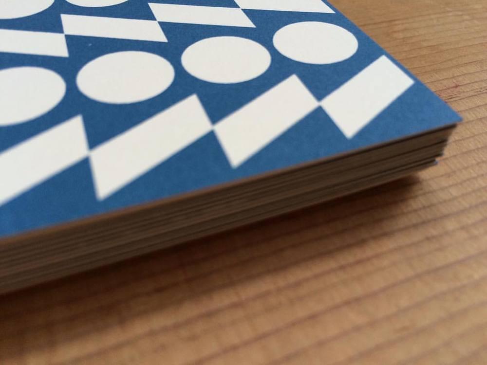 Bold printed cards in Cornish Blue #esmewinter