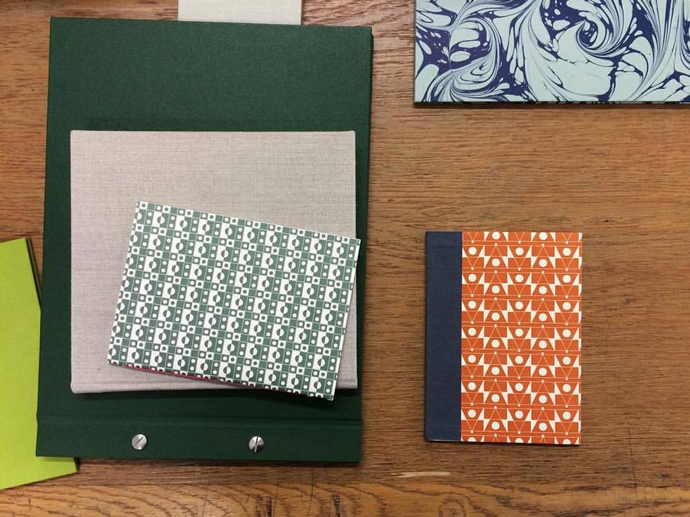 Always beautiful - Handmade Books from workshops at London Centre for Book Arts. Love to see our papers in use.