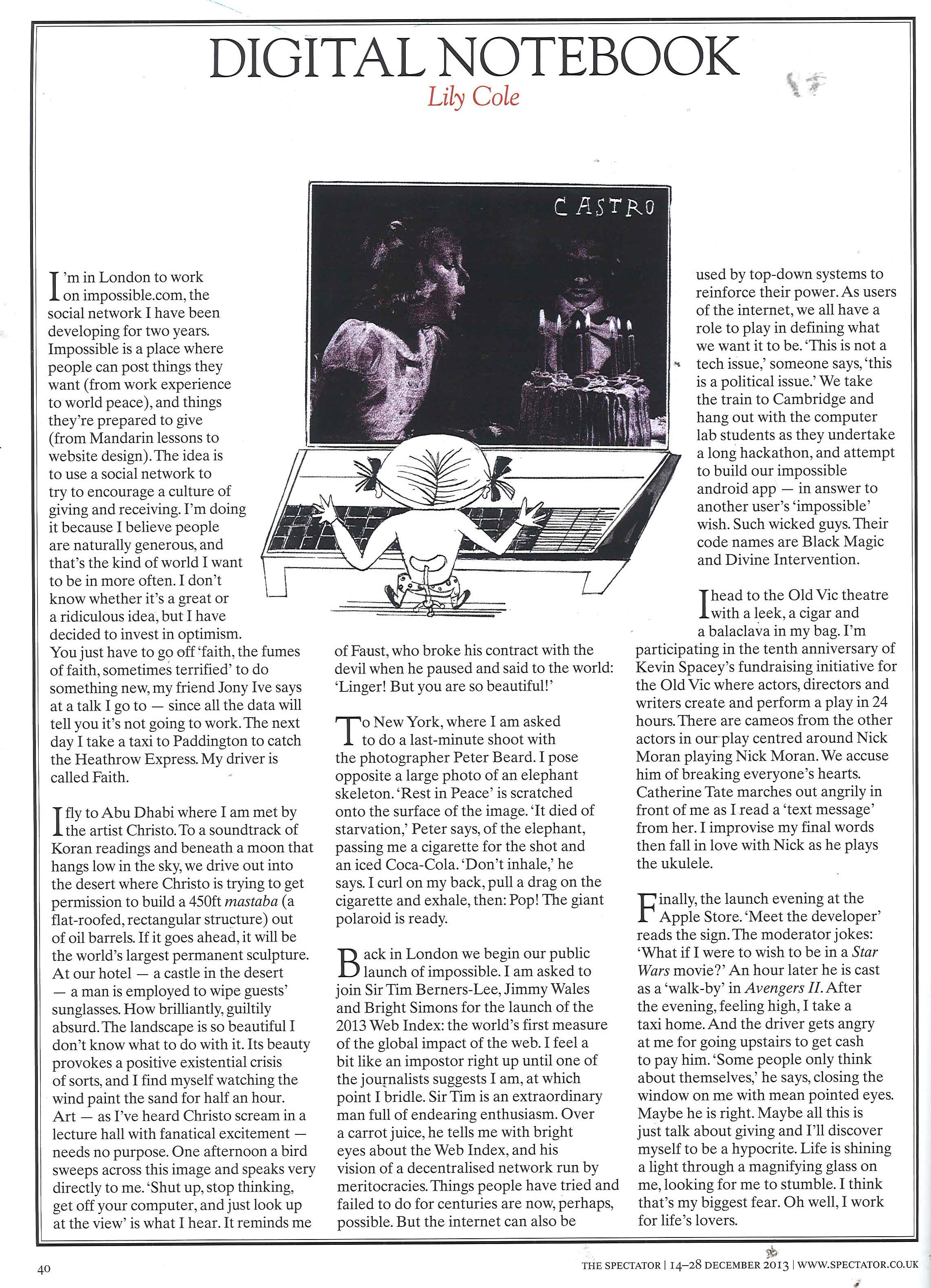 The Spectator, 12th December 2013, p. 40[2] copy