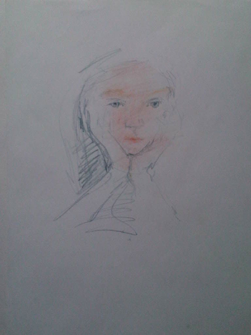Lily age 7, sketchh670