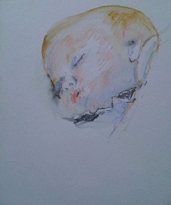 Lily baby, watercolour sketchh670