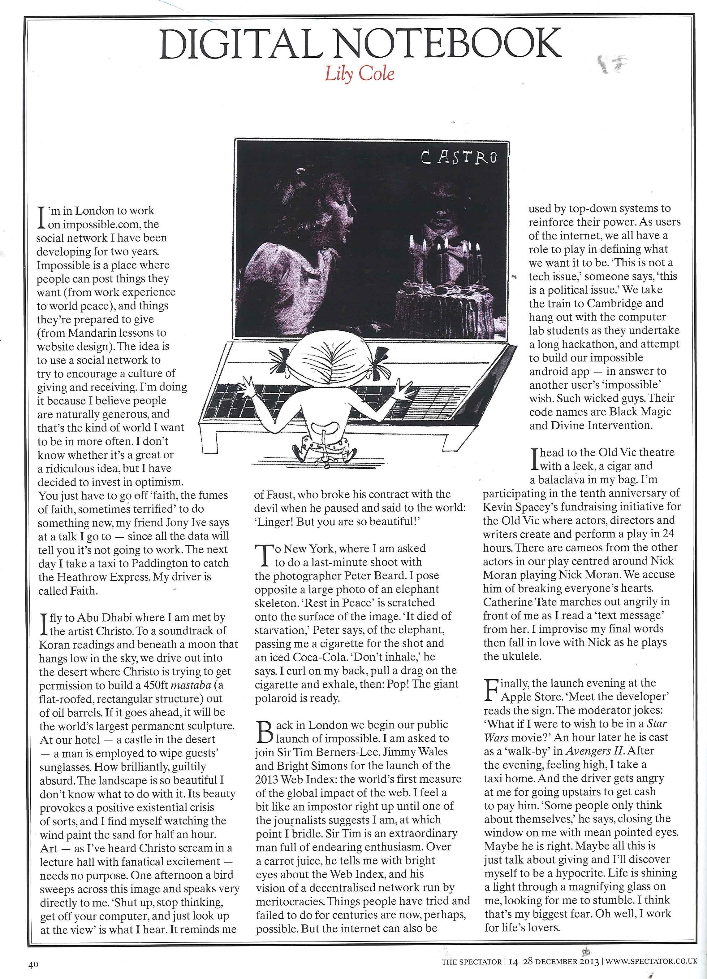 The Spectator, 12th December 2013, p. 40