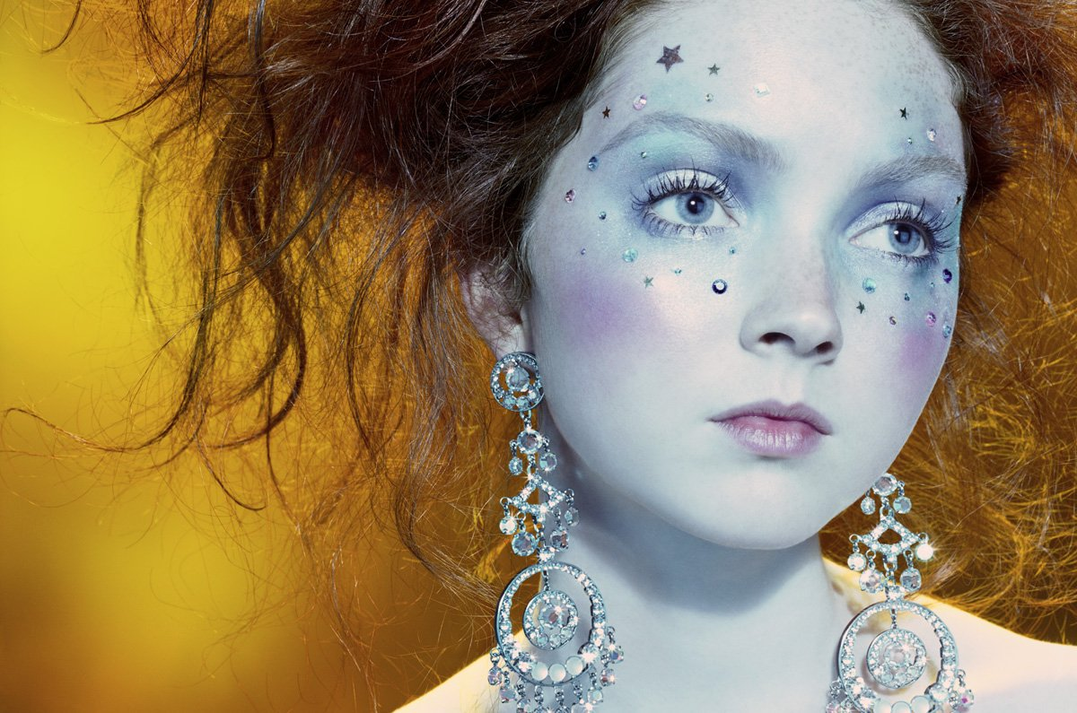 Lily Cole by Miles Aldridge (So Poetic - Vogue Italia August 2006)