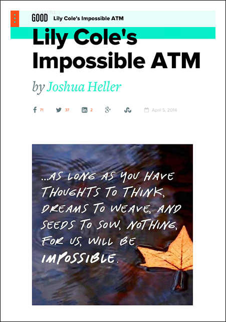 Lily-Cole's-Impossible-ATM