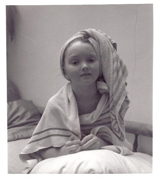 lily cole young by patience owen towel
