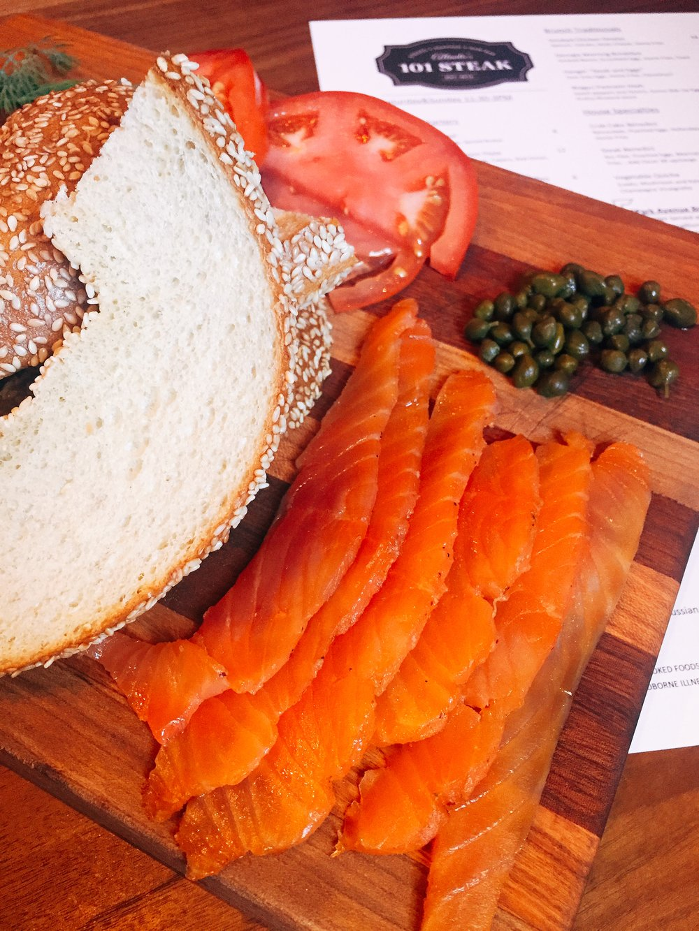 House smoked salmon board