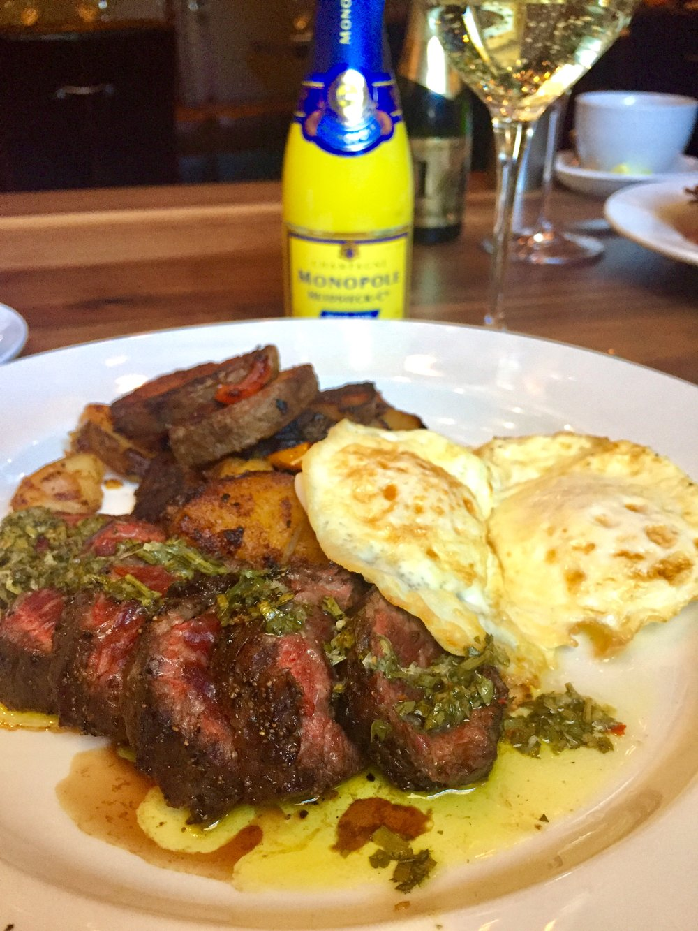 Hangar Steak and Eggs