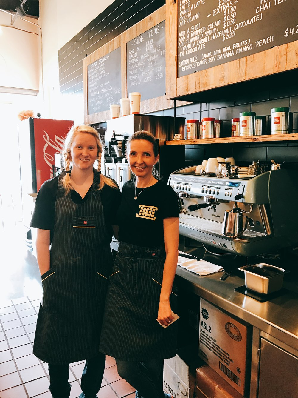 Aneta and her barista.     - Written by Arielle Kleinman