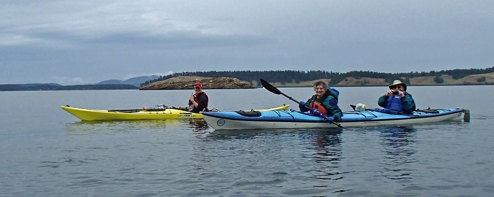 Mark Cohen has been on over 35 trips with Road Scholar (formerly Elderhostel). Here, kayaking in the Salish Sea, Washington State (Fall 2013).