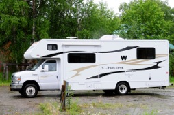 Sally Cullen and her husband rented this RV and drove to Alaska. (Spring 2013)