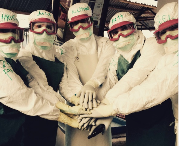 Richard Godfrey has performed surgery on 10 trips to Kenya (Winter 2014) and treated Ebola in Sierra Leone (Summer 2015). Here's an Ebola team in personal protective equipment.