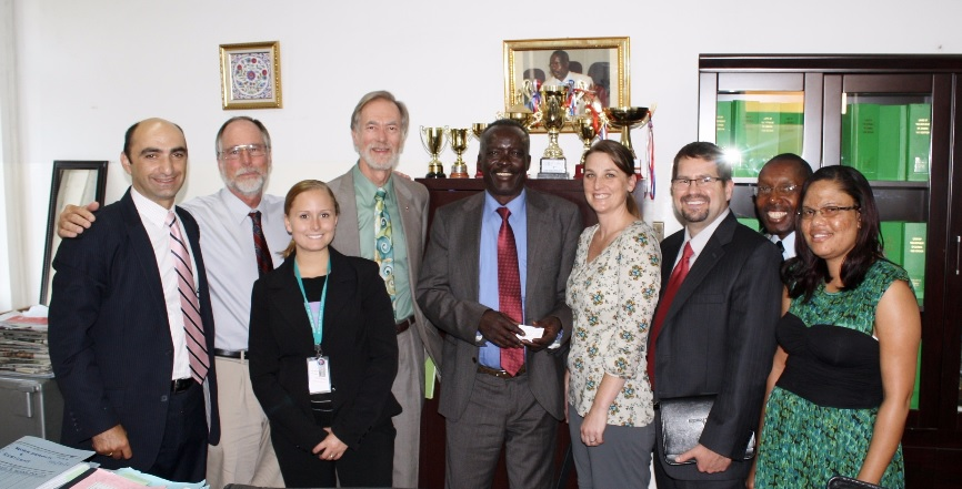 Chuck Clemons (2nd from left) with team fighting sexual abuse in Zambia (Spring 2013).