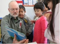 Peter Sherris is a prime mover of KinderPrep, a project of Oakland Rotary Club that supports transitional kindergartens throughout Oakland.
