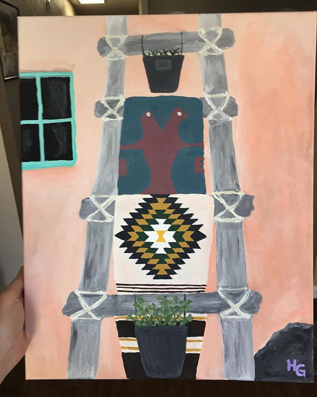 I've been working on this painting for a few weeks now. Normally I paint from photographs I've taken, but I was so in love with the photo taken by @gofrenchyourself that I had to paint it. #newmexicoartist #newmexicotrue #truenm #adobe #painter #abq #abqartist