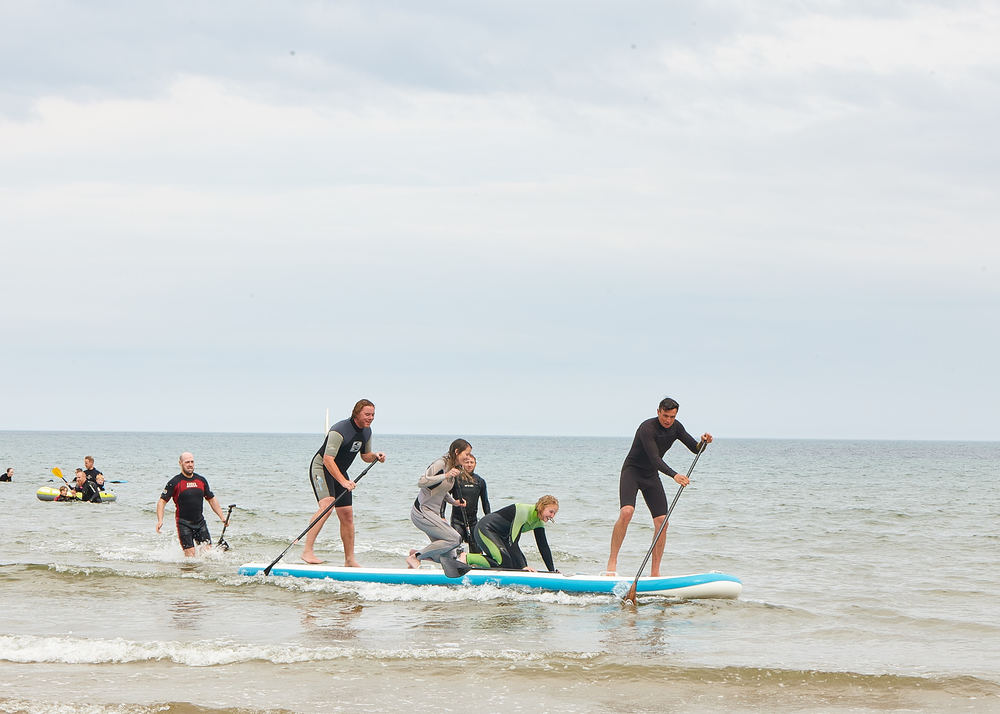 Giant group stand up paddle board