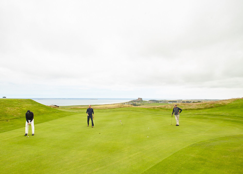 Play golf at one of many great links courses. Here's Bamburgh Golf Club