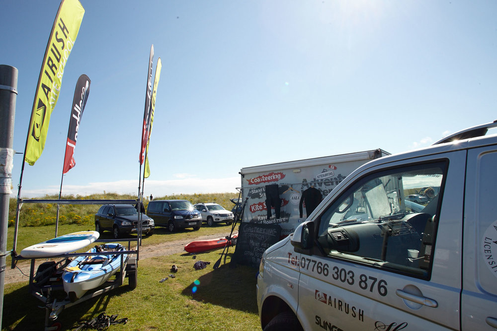 For all your kite, stand up paddle and coasteering needs go see Kevin at KA!