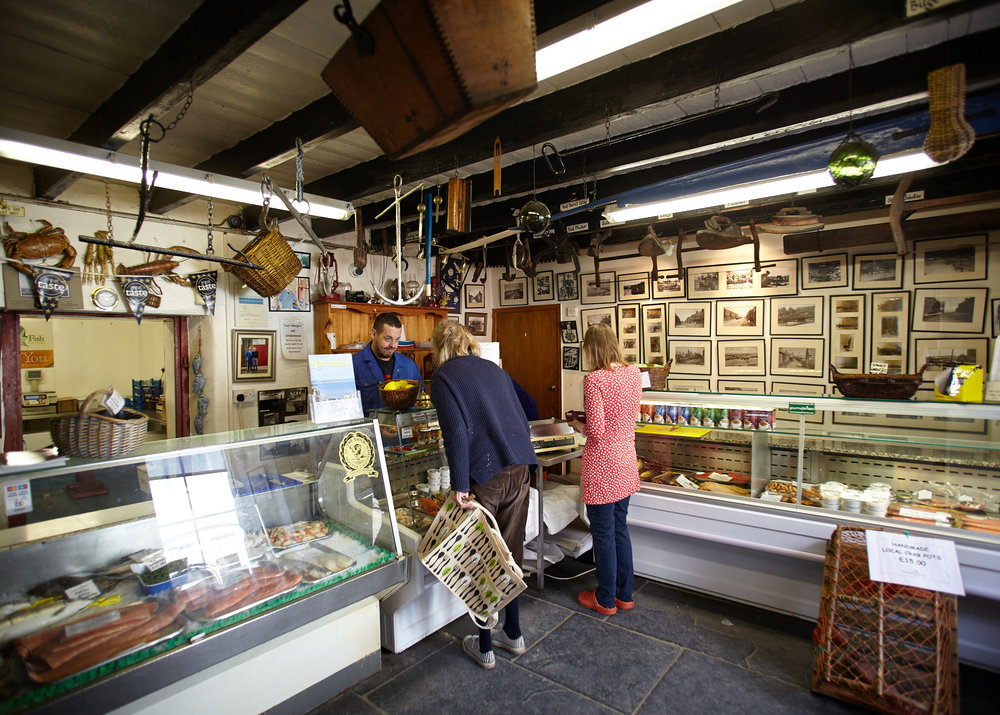 A hidden smoke house in Seahouses, Swallow Fish