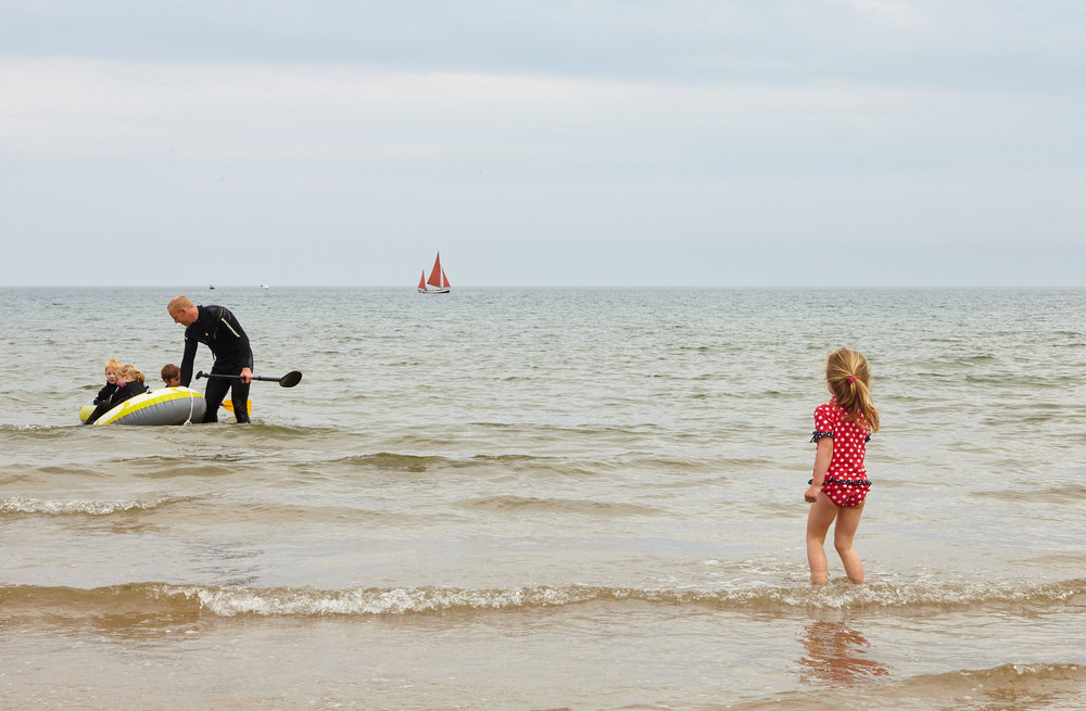 The kids just love rubber dingy time