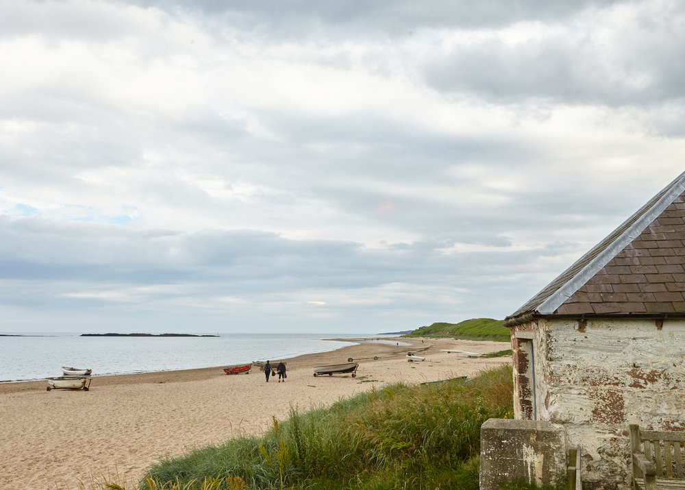 Low Newton beach leads to Dunstanburgh Castle and Embelton