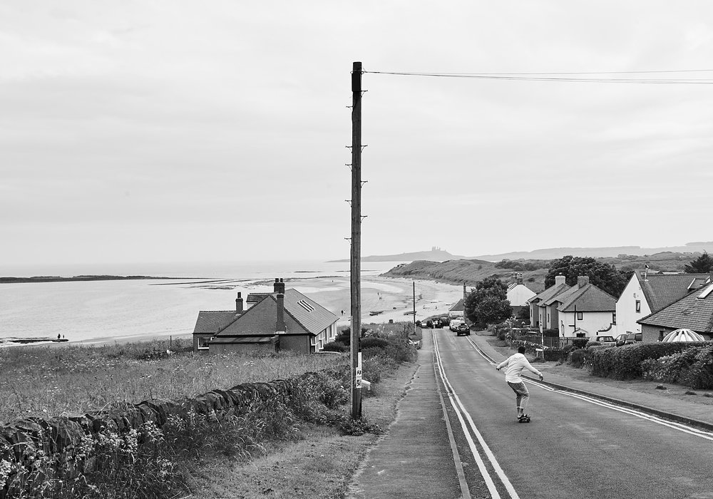 Skateboard down the hill at Low Newton