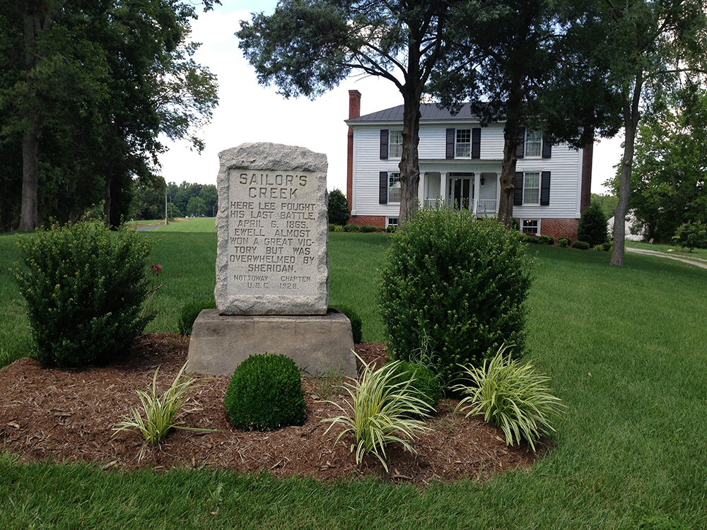 A memorial at Virginia's Lockett Farm marks the location where General Robert E. Lee fought his last battle in the Civil War.