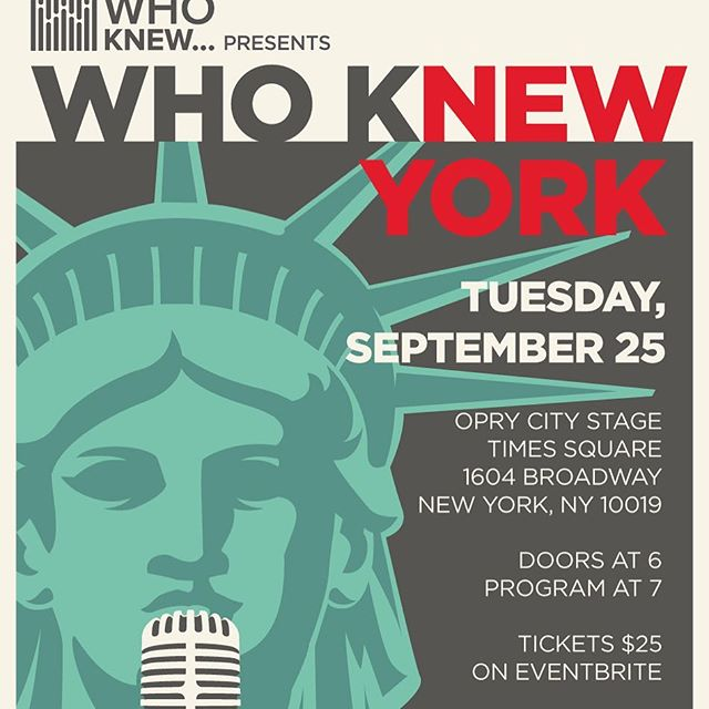"WHO KNEW returns to NYC on September 25!  In normal WHO KNEW fashion, we are presenting an amazing lineup of highly accomplished music executives each delivering a 10 minute ""TED Talk"" about their lives and careers in an intimate, multi-media format.  Confirmed speakers are:  JJ Rosen- Digital Music Entreprenuer, EVP of Music Strategy & Industry Relations at Splice Michael Solomon- Co-Founder Musicians on Call, Brick Wall Management, and 10x Management Molly Neuman- Global Head of Business Development at Songtrust Joe Rapolla- Chair of Music & Theater Dept., Director of Music Industry Program at Monmouth University Justin Bolognino- Founder & CEO of META Jennifer Newman Sharpe- Entertainment Attorney, GC at ONErpm, VP at Women in Music  Tix on sale- https://bit.ly/2wcDfQh"