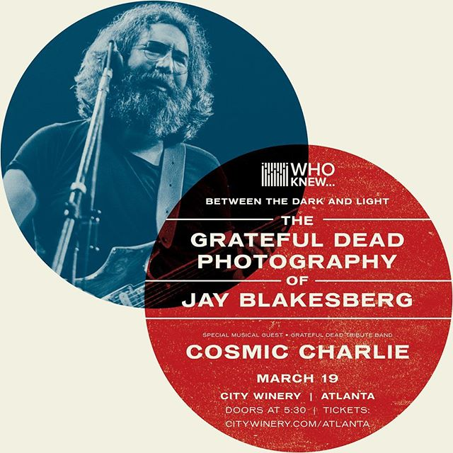 Hey Atlanta! Check out this amazing event celebrating the Grateful Dead photography of Jay Blakesberg. March 19 at City Winery. The behind the scenes stories Jay shares about his legendary career will blow you away. Following his presentation, Cosmic Charlie will perform a full set of your favorite Grateful Dead jams. Tickets going fast- https://lnkd.in/eCe7GFa