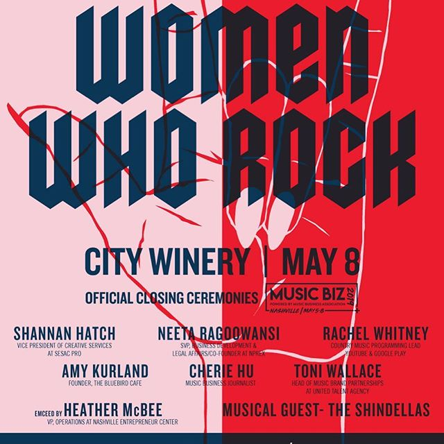 WHO KNEW Presents Women Who Rock is back on May 8 at City Winery, Nashville. It's the closing ceremonies for Music Biz and is not to be missed! Tickets on sale- https://bit.ly/2VdkKWp.