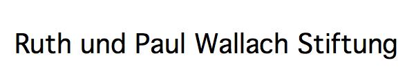 Ruth und Paul Wallach Stiftung