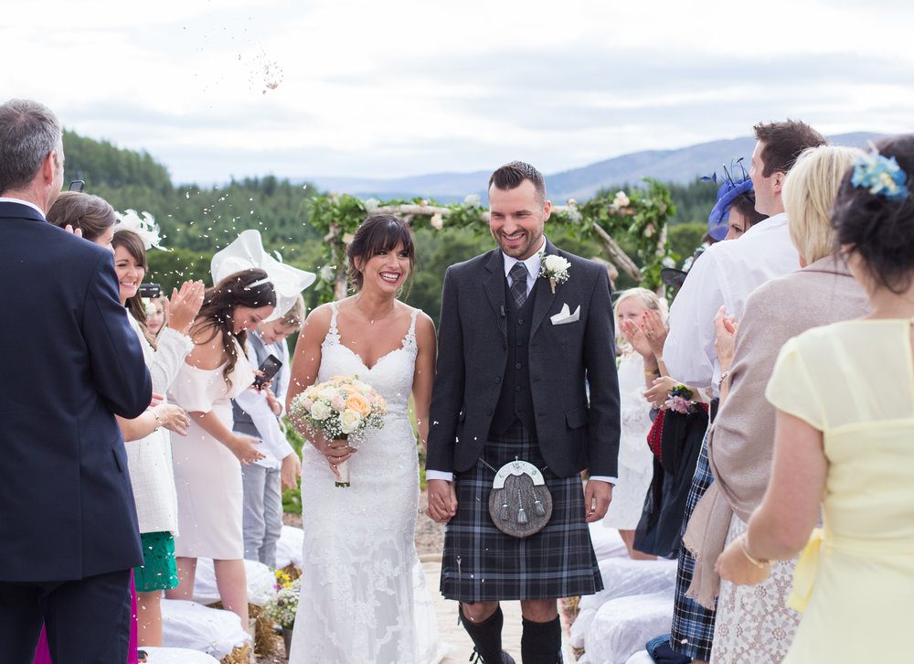 outdoor wedding ceremony Scotland