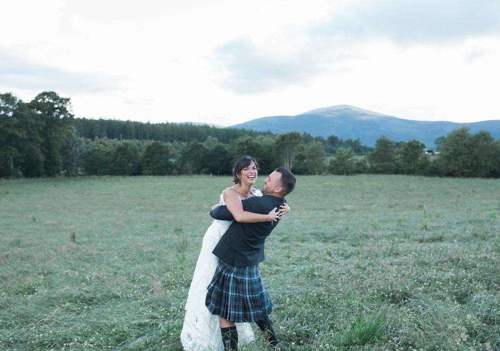farm wedding Aberdeenshire